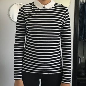 Forever 21 striped collared top